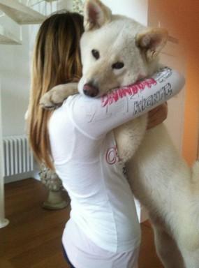 Yuki a 8 mesi insieme alla padroncina !