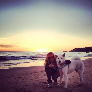 Yuki sulla spiaggia !n