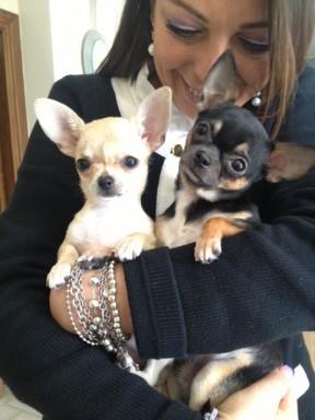 Bred e Shasha  in braccio a Paola